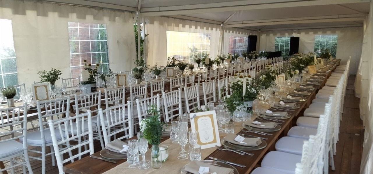 Tavoli e sedie per eventi