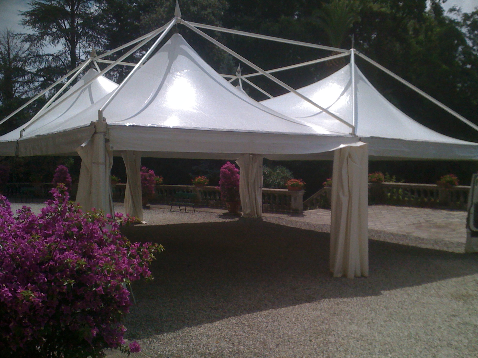 Rental and sale of second-hand tensile structures and gazebos